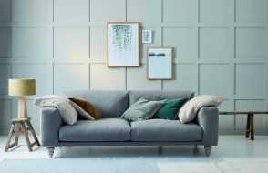 fabric sofa leather